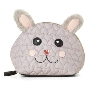 Betsey Johnson Bunny Rabbit Quiltet Makeup Bag